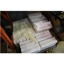 18 BOXES OF WALL TILE 4.5 SQUARE FEET PER BOX RETAIL $42 A BOX