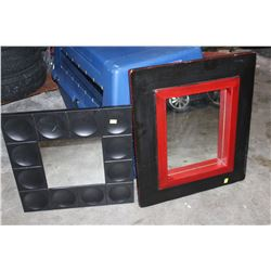 2 DECORATIVE WALL MIRRORS