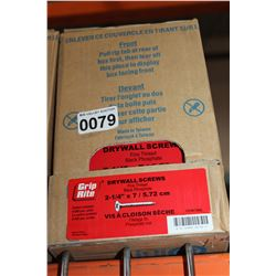 CASE OF 2 I/4 INCH DRYWALL SCREWS