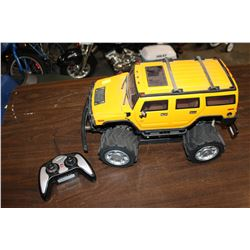 YELLOW RC HUMMER TOY