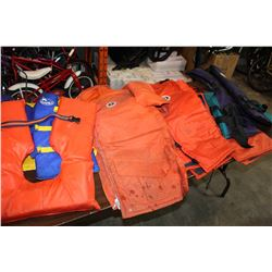 LOT OF LIFE JACKETS