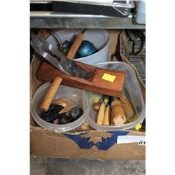 WOOD PLANE CHISELS AND OIL CANS