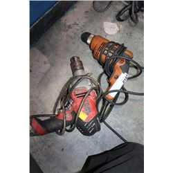 RIGID AND BLACK AND DECKER ELECTRIC DRILLS
