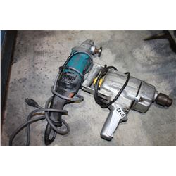 MAKITA ANGLE GRINDER AND ELECTRIC DRILL