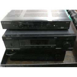 SANSUI AND GENEXXA RECEIVERS AND MOTOROLLA DIGITAL BOX