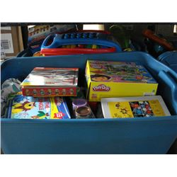 3 LARGE TOTES OF KIDS TOYS WITH LIDS