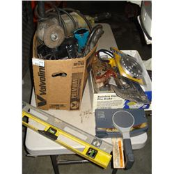 TWO BOXES OF POWER TOOLS AND TOOLS