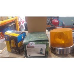 BILGE PUMP PROPANE STOVE AND AMBER CAUTION LIGHT