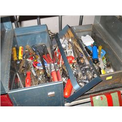 TWO TOOL BOXES WITH CONTENTS