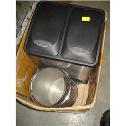 DOUBLE WASTE BIN AND MIRROR