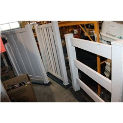 THREE PLASTIC FENCE SECTIONS