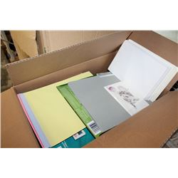 BOX OF NEW STATIONARY