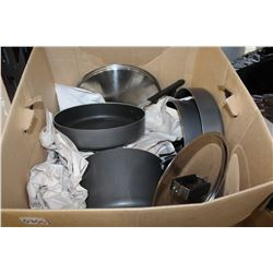 BOX IF POTS AND PANS