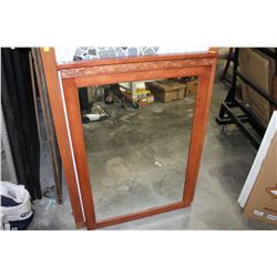 MODERN WOOD FRAMED MIRROR