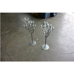 2 METAL TEALIGHT HOLDERS