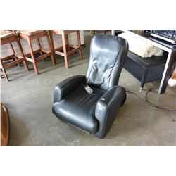 IJOY BLACK LEATHER MASSAGE CHAIR