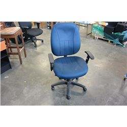 BLUE ROLLING GAS LIFT OFFICE CHAIR