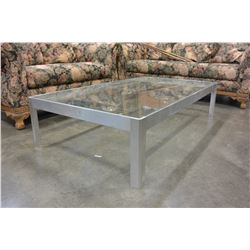 METAL GLASSTOP COFFEE TABLE