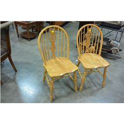 2 MAPLE DINING CHAIRS