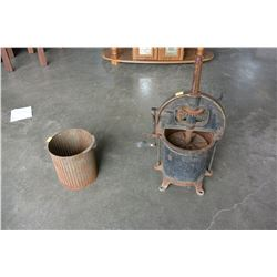 ANTIQUE CAST IRON SAUSAGE MAKER