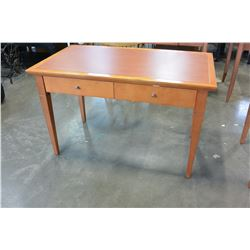 MODERN MAPLE 2 DRAWER DESK