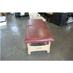 RED HEALTHLINE MASSAGE TABLE