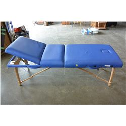 AS NEW HEALTHLINE BLUE MASSAGE TABLE