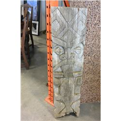 ANTIQUE WOOD CARVED TOTEM POLE