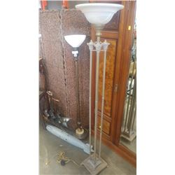 TWO ANTIQUE FLOOR LAMPS
