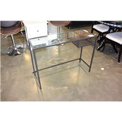 GLASSTOP METAL DESK