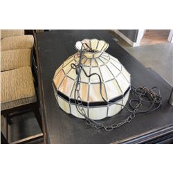 HANGING LEADED GLASS LAMP
