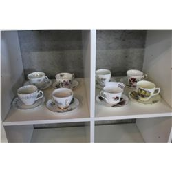 LOT OF 8 CHINA CUPS AND SAUCERS