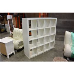WHITE IKEA CUBICLE SHELF