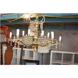 VINTAGE CHANDELIER WITH CRYSTALS