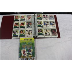 BOX AND BINDER OF HOCKEY CARDS