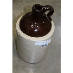 STONEWARE WHISKEY CROCK