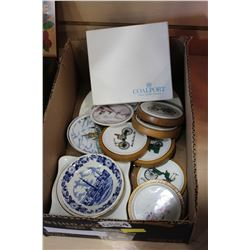 VINTAGE CHINA CAR COASTERS ETC