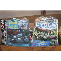 BOX OF MOTORCYCLE MAGAZINES