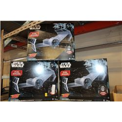3 AIR HOGS RC STARWARS TIE FIGHTERS