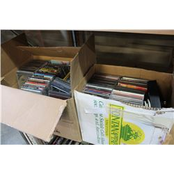 2 BOXES OF CDS APPROX 300