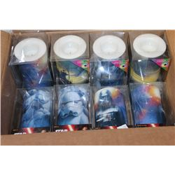 BOX OF NEW STAR WARS CANDLES