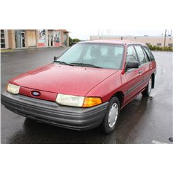 1992 FORD ESCORT, 162476KM, MANUAL, 5 SPEED, RECENTLY SERVICED, NEW TIRES AND BATTERY WITH KEY AND R