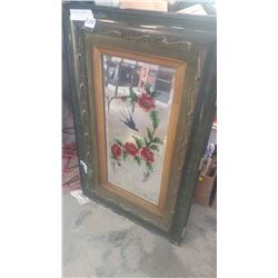 FRAMED MIRRORED PAINTING