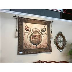 MEDIEVAL CREST WALL HANGING TAPESTRY