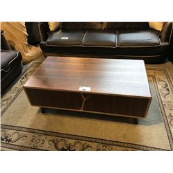 2 DRAWER WALNUT MODERN COFFEE TABLE