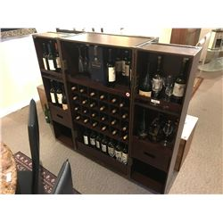 LEATHER MOBILE BAR CABINET