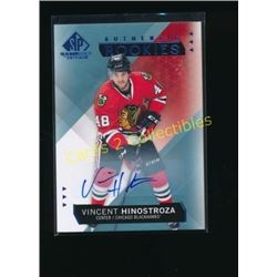 15-16 SP Game Used Autographs Vincent Hinostroza