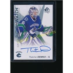 16-17 SP Authentic Thatcher Demko FW AU RC
