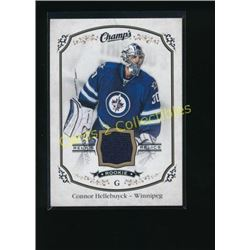 15-16 UD Champ's Rookie Jerseys Connor Hellebuyck