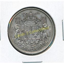 1944 Canadian King George 50 Cent Coin